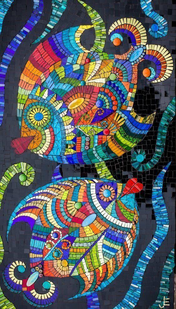 Если надумаете заняться мозаикой, вот вам кучка идей (25фото) » Картины, художники, фотографы на Nevsepic