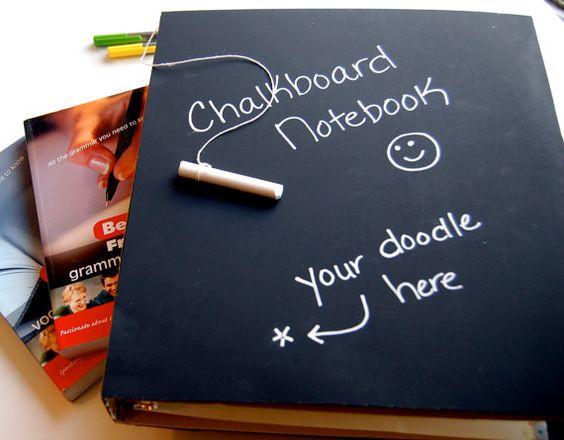 Chalkboard Notebook & Chalk Binder Notebook for by ArtisanPost
