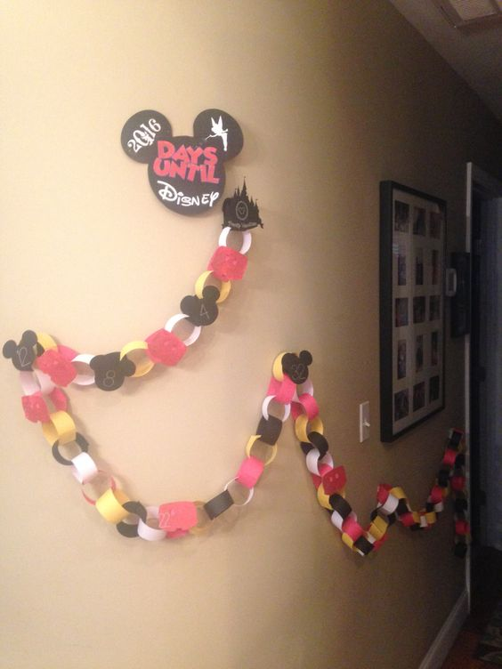 Vacation countdown  Disney  paper chain  Days until Disney