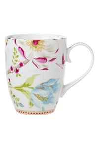 PiP Mug Large Chinese Garden White