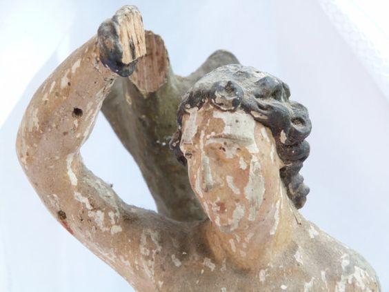 San SebastianSculpture from the XVIIIs century by Albanegalery, $399.00