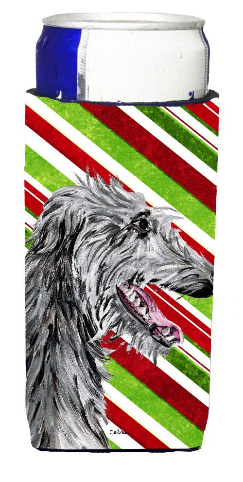 Scottish Deerhound Candy Cane Christmas Ultra Beverage Insulators for slim cans SC9813MUK