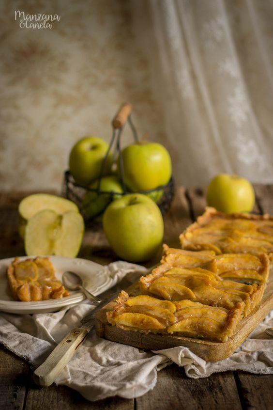 Tarta de manzana con caramelo salado. Salted caramel and apple tart.