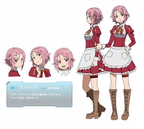 Anime Character Design Generator : Lizbeth sword art online concept pinterest