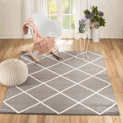 Rug and Decor Inc. Venice Gray/White Area Rug Rug Size: Runner 2' x 7'
