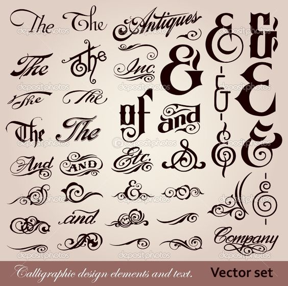 Antique Calligraphy: Fonts, Vintage And Antiques On Pinterest