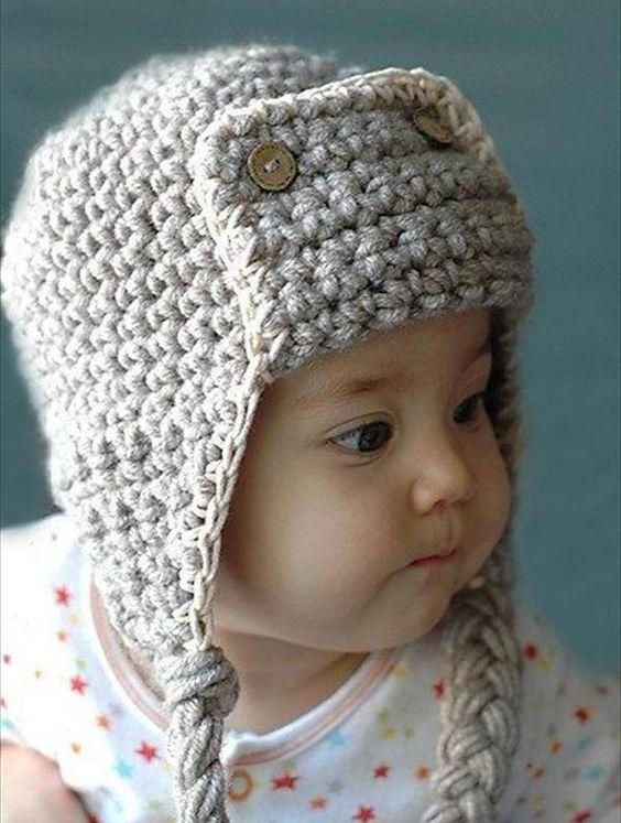 Crochet Baby Aviator Hat Pattern Free : Crochet baby, Crochet hat patterns and Kids crochet on ...