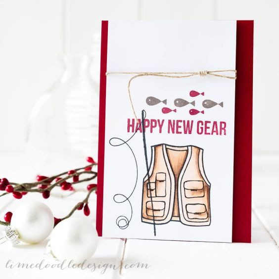 Happy New Gear by Debby Hughes using Simon Says Stamp products in a creative way!