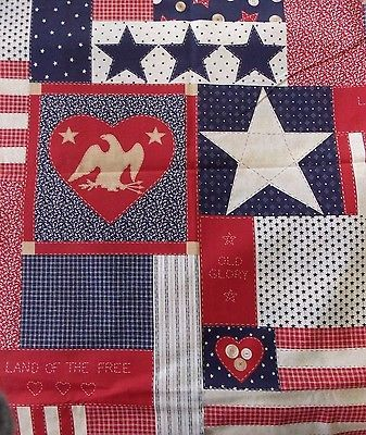 WtW Estate Fabric Traditions 1993 USA Stars Eagle Cheater 2045 America BTY Quilt