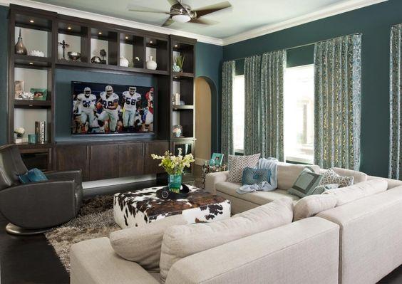 dco intrieur bleu et gris deco salon bleu et gris salon bleu gris moderne - Deco Salon Bleu Gris
