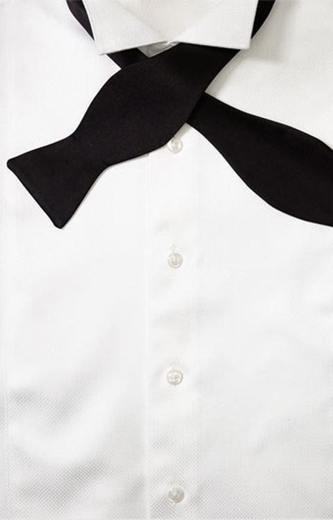 His and hers bow ties: Black bow tie from David Donahue at Nordstrom.