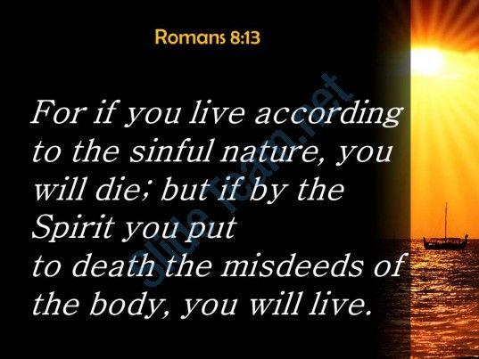 romans 8 13 the misdeeds of the body powerpoint church sermon Slide03  http://www.slideteam.net/