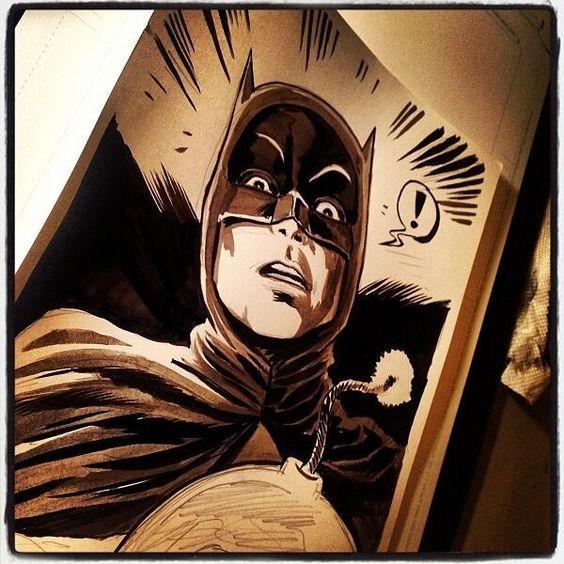 @f_francavilla comparte una ilustración de #Batman66  pic.twitter.com/0oOhmFLuHp