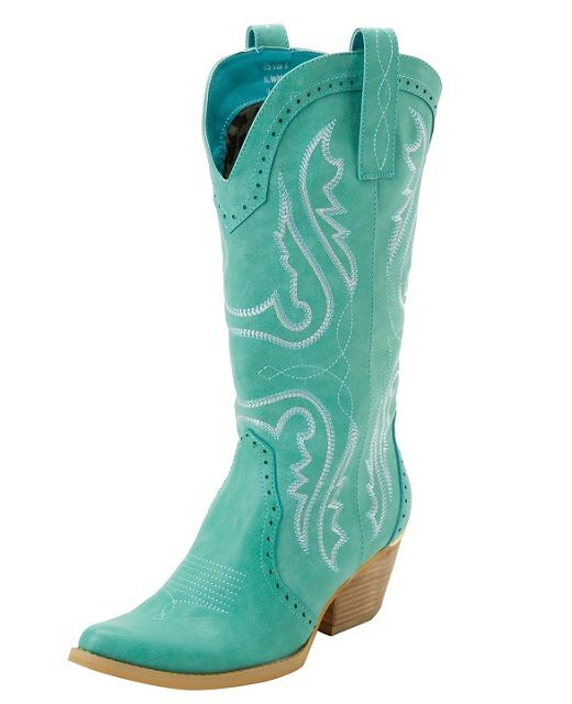 blue cowgirl boots | ... love this Very Volatile aqua blue western ...