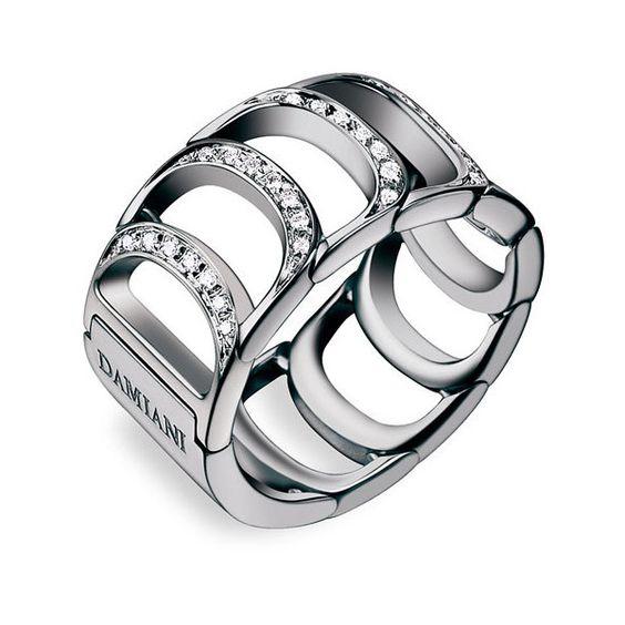 Damiani 'Damianissima' Diamond Ring ($3,980) found on Polyvore