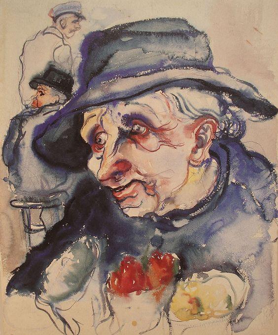 "Elfriede Lohse-Wächtler: ""Die Blumenalte"", 1930"