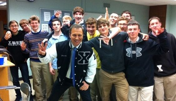 Dennis House of Channel 3 WFSB at Xavier's Career Night