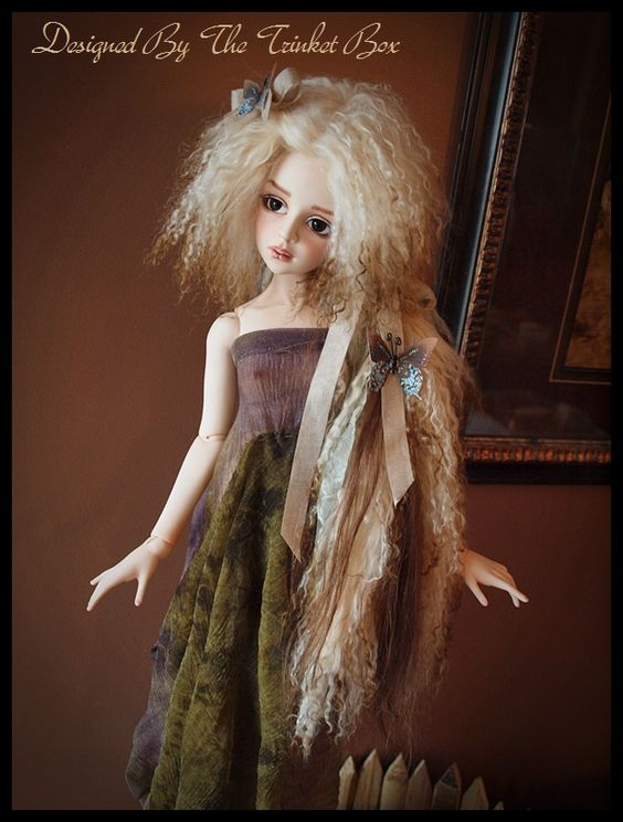 Art Doll mohair and faux fur wigs