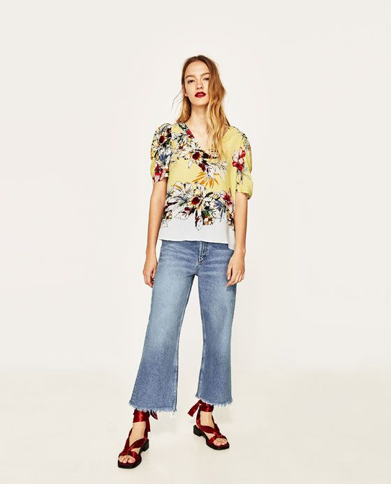 ZARA - WOMAN - FLORAL BLOUSE