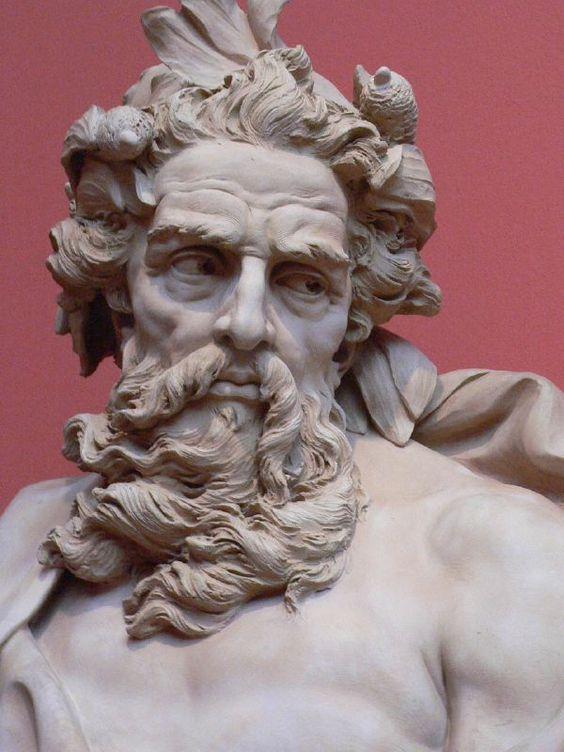 Neptune By Adam Terracotta On Marble 1725 Los Angeles