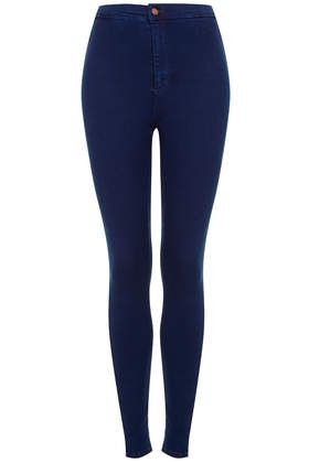 dark blue high waisted jeans - Jean Yu Beauty