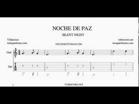Noche De Paz Tablatura Y Partitura Del Punteo De Guitarra Silent Night Tabs Youtube Sheet Music Ukulele Silent Night