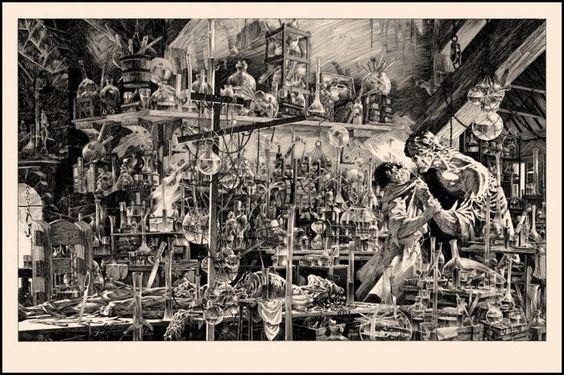 Bernie Wrightson Berni I Shall BE With YOU Frankenstein Poster Print | eBay