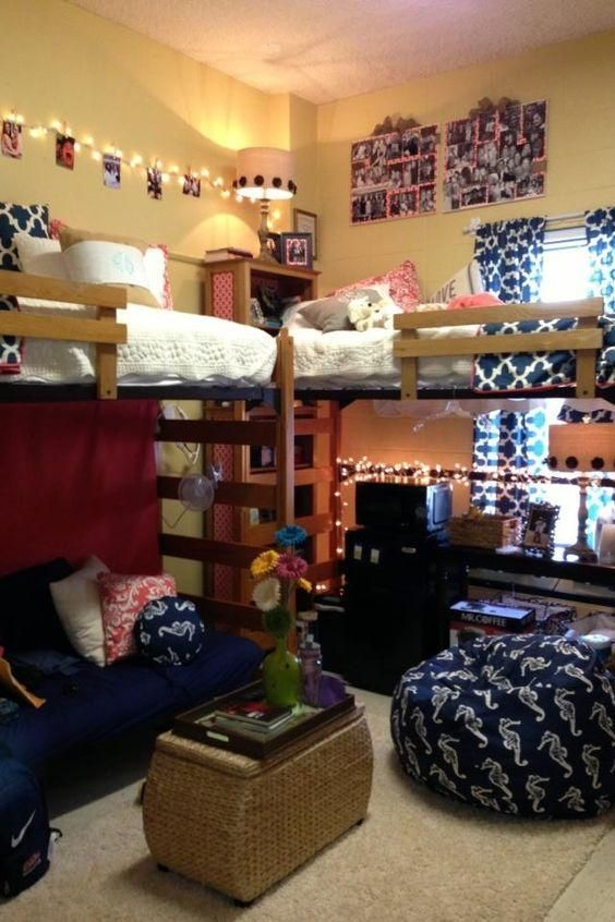 It Allows For More Storage/privacy Space Under The Loft Bed. Something To  Consider? @Cierra Hawkins | College | Pinterest | Dorm,u2026 Part 98