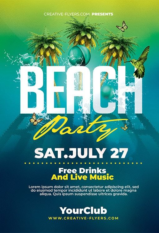 Pin On Summer Party Flyer