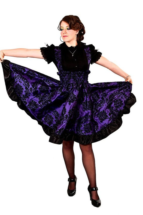 Plus Size Gothic Dress Purple Lolita Jumper Velvet Flock Skirt | Pop Comedy - Man Repelling ...