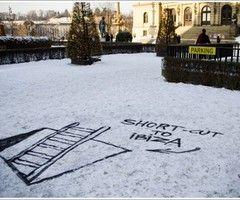 snow street art