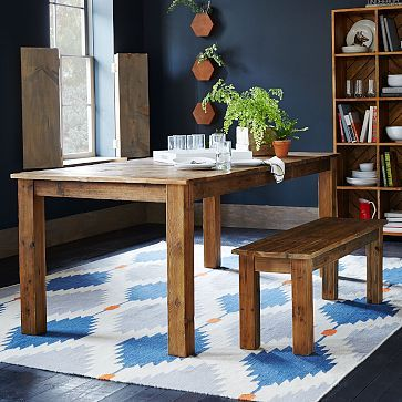 Angled Leg Expandable Table West Elm Dining Room