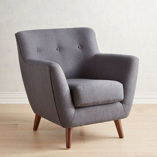 Mitzi Denim Armchair With Images Grey Armchair Grey Bedroom