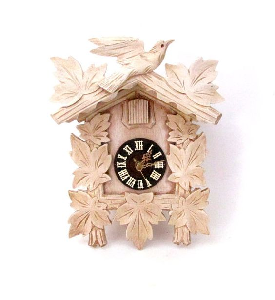 Vintage Hand Painted Cuckoo Clock with by CreekLifeTreasures #handpainted #upcycled #Quartzclock