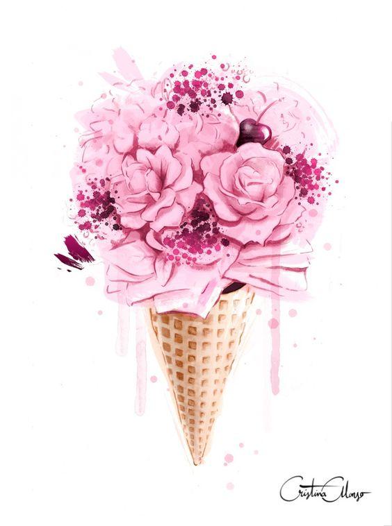 Image of Ice Cream Bouquet Print