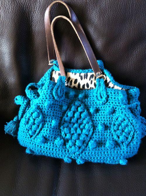 Tuto sac darel au crochet crochet pinterest grille de crochet sacs et motifs - Tuto sac tricot en tissu ...