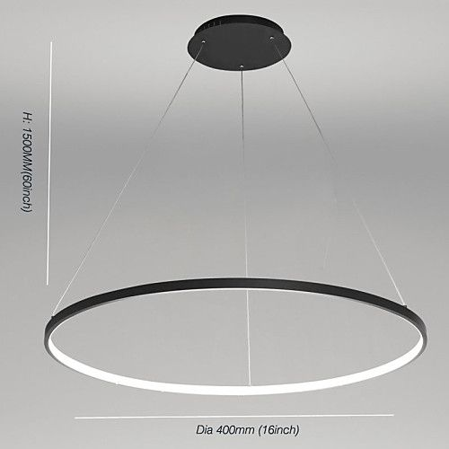 1 Light Ecolight 40 16 Led Pendant Light Metal Acrylic Circle Painted Finishes Modern Contemporary 110 120v 220 240v Luminaire Luminaire Suspendu