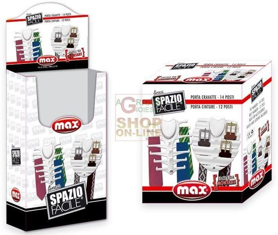 MAX PORTA CRAVATTE/CINTURE PALLBOX http://www.decariashop.it/home/10883-max-porta-cravatte-cinture-pallbox.html