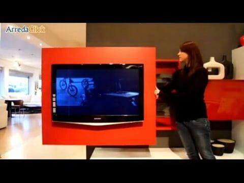 Wissmann Raumobjekte Porta Tv Girevole.Porta Tv Orientabile Girevole Rack Tv Mobel Hangend Haus Ideen