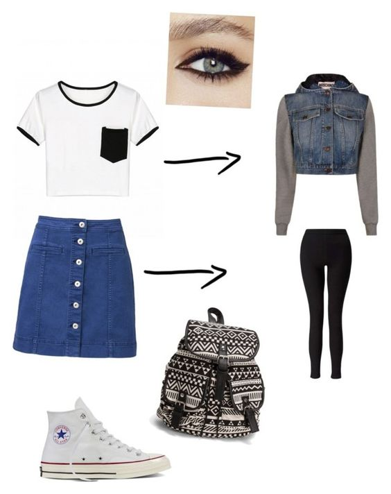 """Summer to fall"" by khoneygirl on Polyvore featuring Witchery, Converse, Moschino, Miss Selfridge and NLY Accessories"