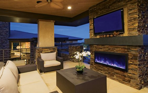 Wonderful Outdoor Fireplaces Are An Important Part Of Any Outdoor Room. Electric  Outdoor Fireplaces Offer Easy Installation And Flexible Heating Options.