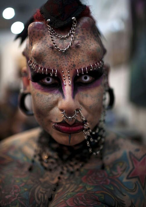 Mexican Vampire Woman: Maria Jose, Creepy Things, Crazy People, Body Art, Body Piercings, Body Modifications