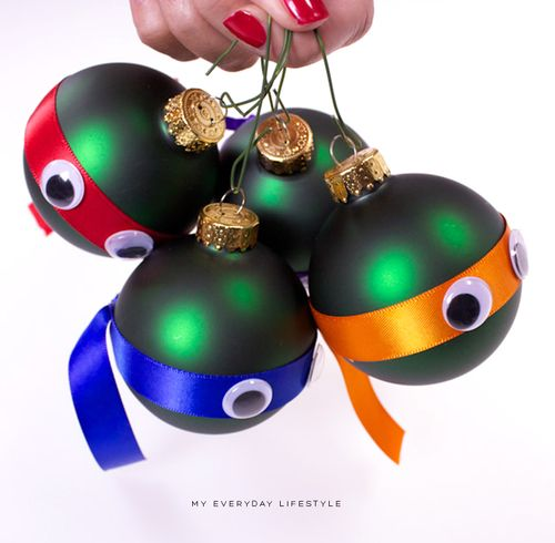 Ninjas DIY #turtles #ornaments #tmnt