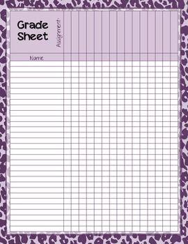 Zebra Print Grade Sheet Series   To be, Free printable and Student