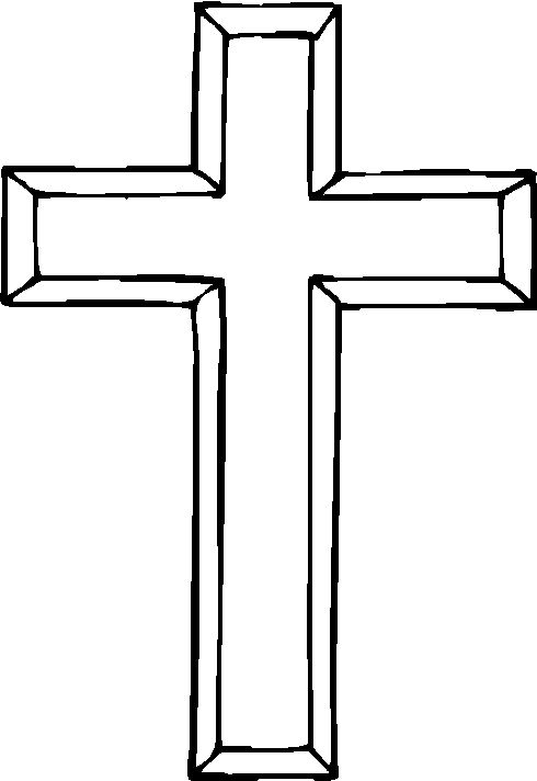 Jesus Cross Coloring Printable