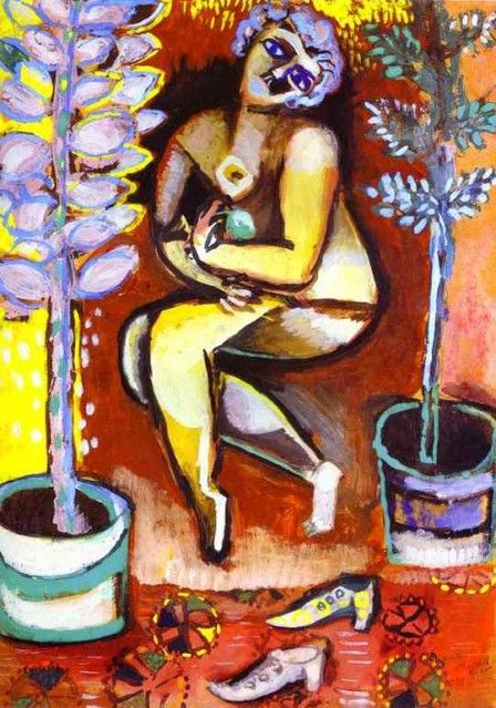 Marc Chagall, Nu aux fluers (Nude with Flowers)