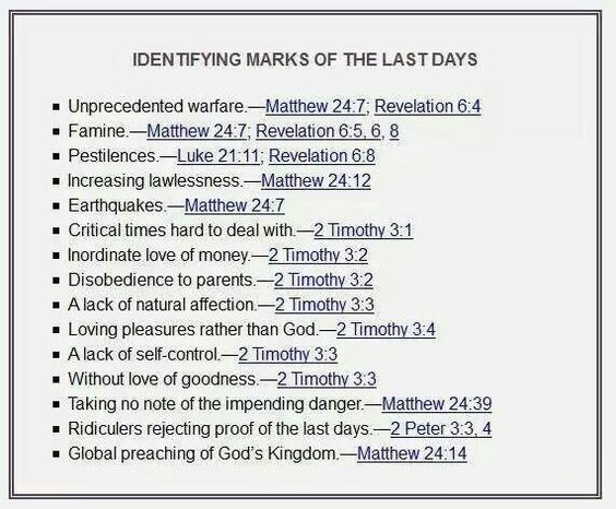 the bible and the end of days Biblical signs of the end of the world, showing we are living in the last days in 2018 and the bible second coming of christ jesus is near.
