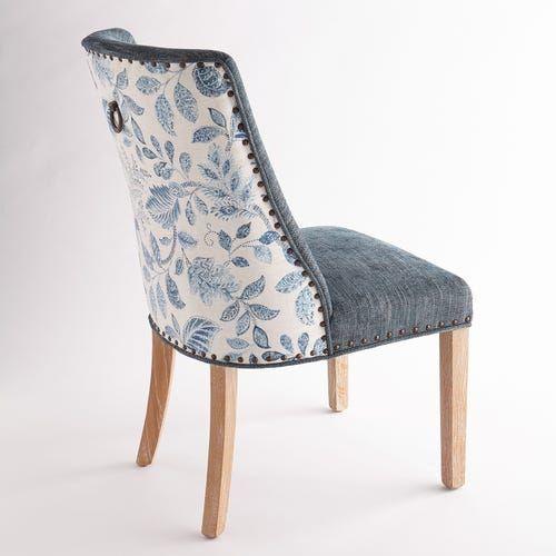 Corinne Artemis Mallard Blue Dining Chair In 2020 Blue Dining