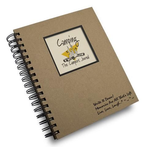 A great gift idea for the camping enthusiast. Next time you go camping, you'll be glad you wrote down the where and how of your previous experiences, especially if you return to a previous site. Not o