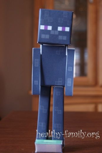 An enderman minecraft paper craft is just one of several for Minecraft crafts for kids